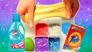 Лизун из детской присыпки. Как сделать лизуна без клея ПВА в домашних условиях? Лизун из лака для ногтей